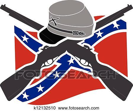 American civil war. union. stencil. raster avriant clip art ...