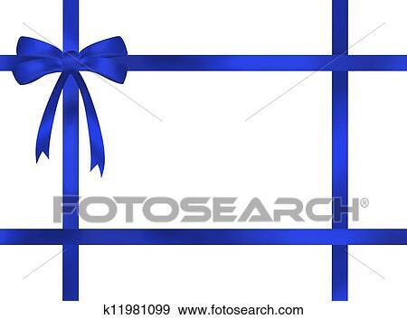 blue ribbon background