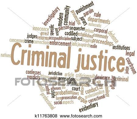 stock illustration of criminal justice k11763808 search eps clip rh fotosearch com Criminal Justice Graphics Criminal Justice Graphics