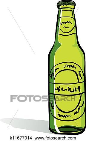 clipart of green beer bottle k11677014 search clip art rh fotosearch com cartoon beer bottle clipart free beer bottle clipart