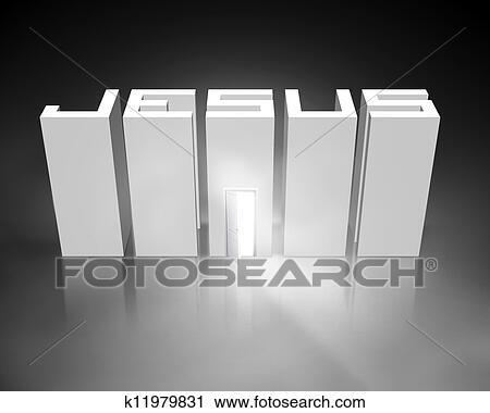Clipart of jesus with open door k11979831 search clip art clipart jesus with open door fotosearch search clip art illustration murals altavistaventures Gallery