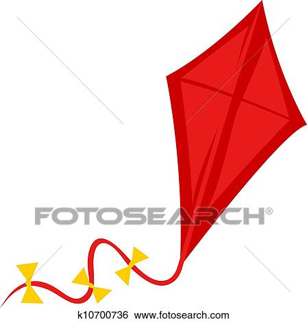 Clip Art of Red Kite k10700736 - Search Clipart ...