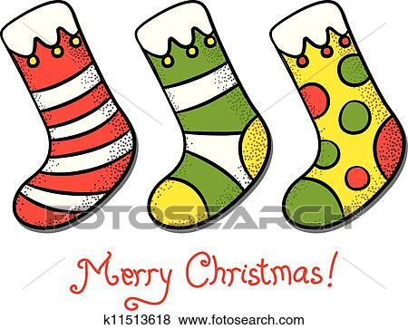 剪贴画 圣诞节, 短袜