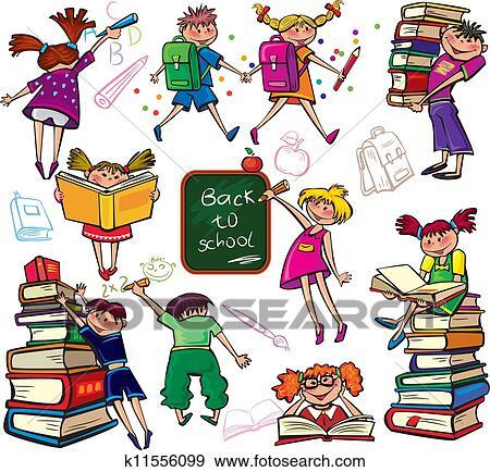 Clip art indietro scuola k11556099 cerca clipart for Scuola clipart