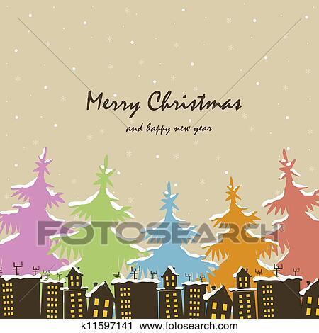剪贴画 - 圣诞节., 房子