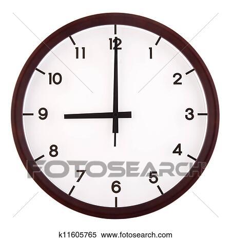 9点钟简笔画-模拟钟