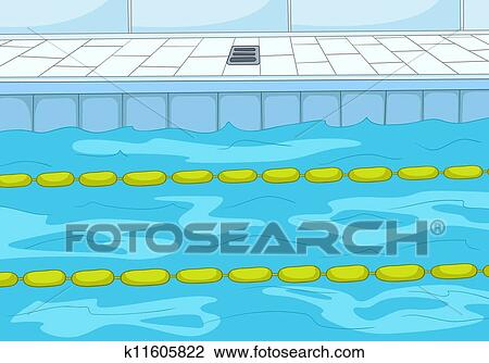 Clipart of swimming pool k11605822 search clip art for Swimming pool drawing