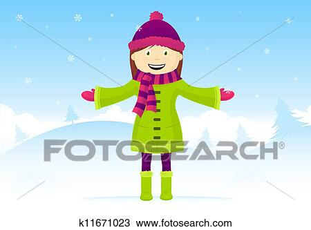 Clipart of It's snowing k11671023 - Search Clip Art, Illustration ...