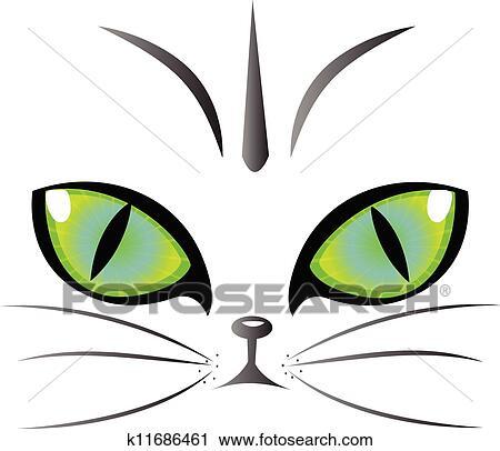 clipart chat yeux logo vecteur k11686461 recherchez des clip arts des illustrations des. Black Bedroom Furniture Sets. Home Design Ideas