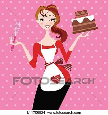 Девушка с тортом картинки