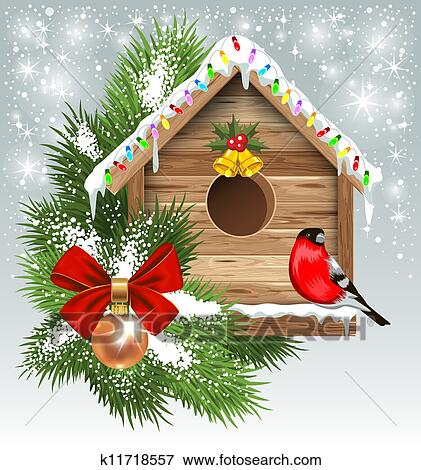 Clip Art of Christmas greeting card k11718557 - Search ...