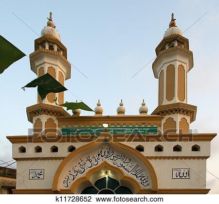 图吧- 穆斯林, (arab), 清真寺, kovalam, kerala, 南方, 印度.图片
