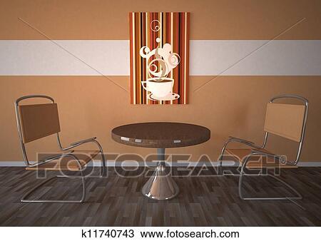 手绘图 - 食堂