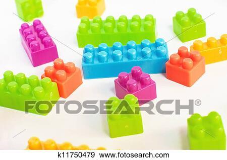 Afbeeldingen Lego Blokjes Kleurrijke Lego Blokjes op