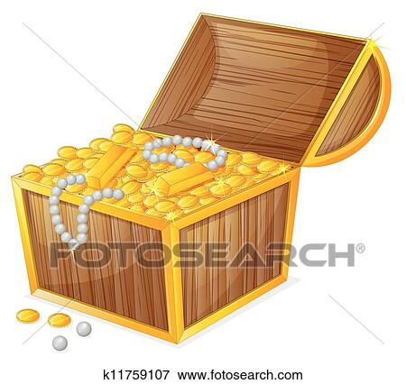 Clipart of a jewellery and a box k11397972 - Search Clip Art ...