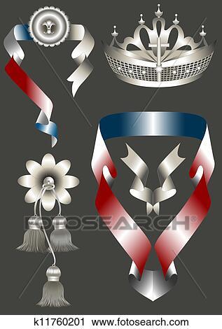 Clipart krone und elegante attributes f r er for Elegante wandbilder