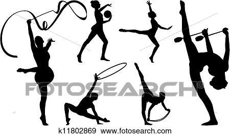 Clipart gymnastique rythmique appareil k11802869 - Dessin de grs ...