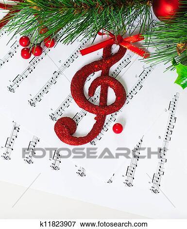 圣诞节, 高音谱号 检视放大的图片