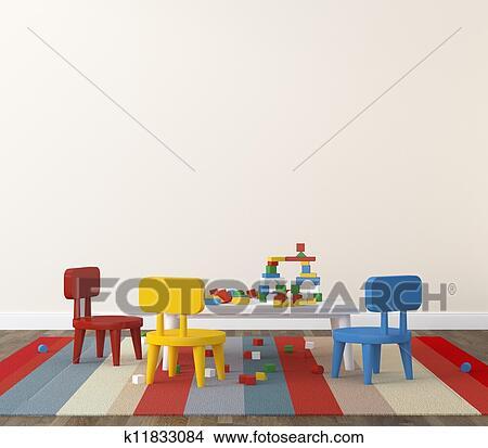 dessins int rieur de salle jeux kidsroom k11833084 recherche de clip arts d. Black Bedroom Furniture Sets. Home Design Ideas