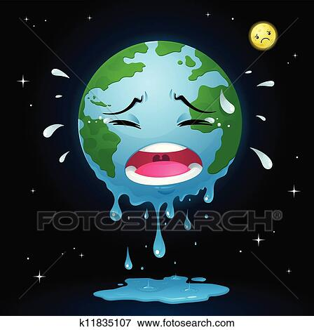 Clip art of crying earth k11835107 search clipart illustration posters drawings and eps - Mother earth clipart ...