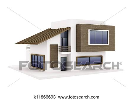 Drawing of exterior of modern house k11866693 search for Exterior house drawing
