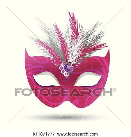 Clipart of Venetian Mask k11871753 - Search Clip Art, Illustration ...
