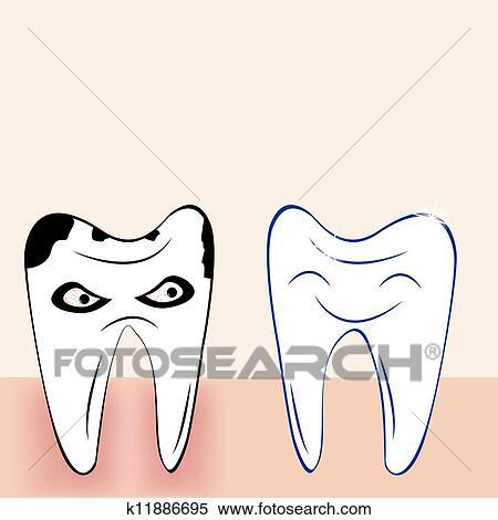 我的牙齿卡通画