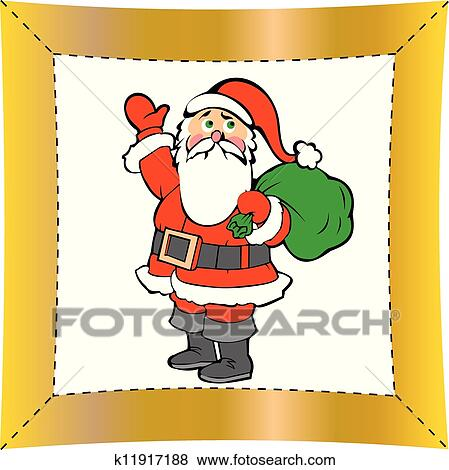 剪贴画 - 圣诞节, 圣诞老人