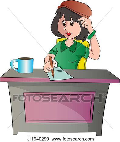 Schreibtisch büro clipart  Schreibtisch stuhl Clipart und Illustrationen. 6.107 schreibtisch ...