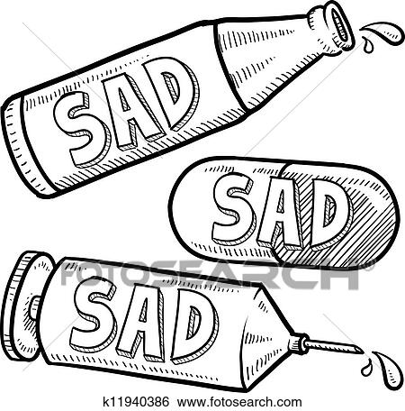 Depression Medicine Clip Art