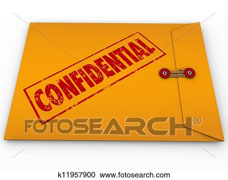 Stock Illustrations of Confidential Classified Envelope Secret ...