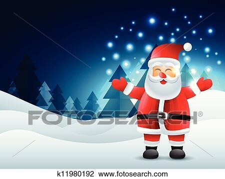 剪贴画 - 笑, 圣诞老人