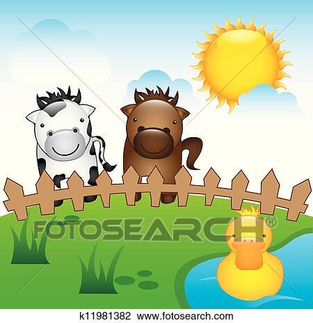 剪贴画 农场动物