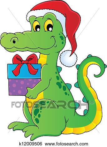 剪贴画 - 圣诞节, 鳄鱼