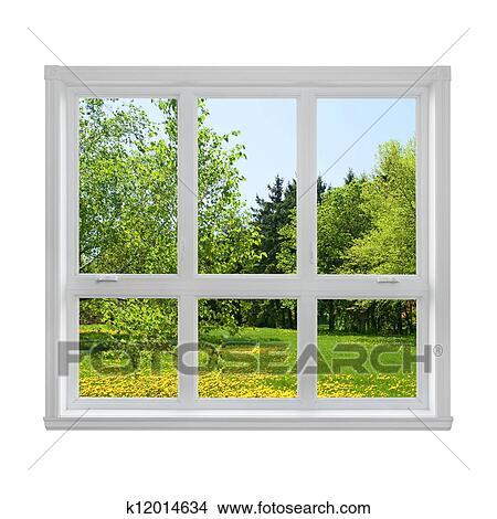 Banque de photo printemps paysage vu par les for Decoration fenetre printemps