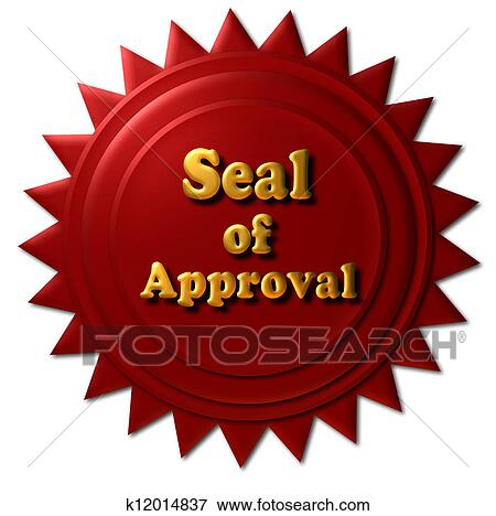Stock Illustration Of Seal Of Approval K12014837