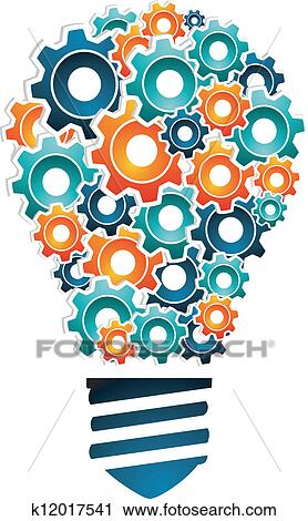 Clipart of industrial innovation concept k12017541 for Innovation in product and industrial design