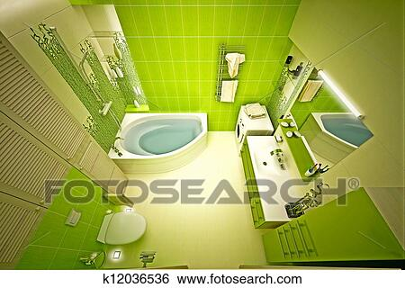 Stock Illustration   öko, Bambus, Badezimmer