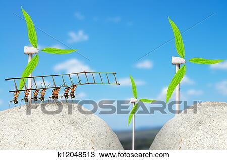 手绘图 - 蚂蚁, 风