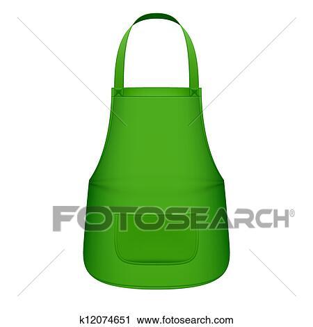 클립아트 - 녹색 부엌, 앞치마 k12074651 - 클립 아트 ...