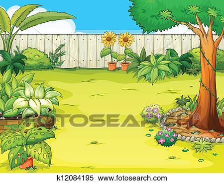Clipart - a, beau, jardin. Fotosearch - Recherchez des Clip Arts, des ...: www.fotosearch.fr/CSP991/k12084195