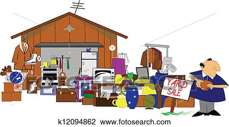 clipart norme yard et brocante domicile k12094862 recherchez des clip arts des. Black Bedroom Furniture Sets. Home Design Ideas
