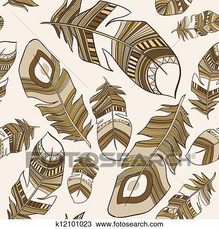剪贴画 少数民族的印度人, 羽毛, 羽毛