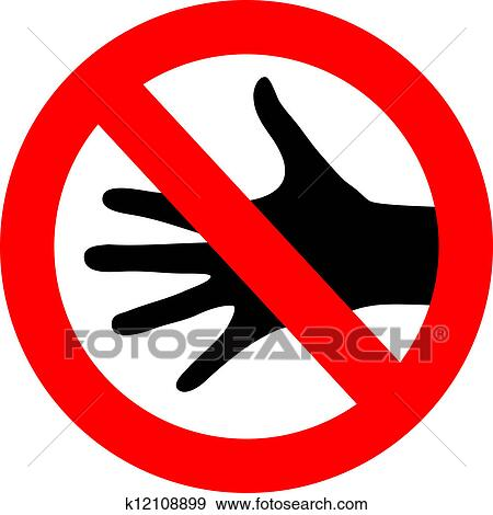 clip art of vector do not touch sign k12108899 search
