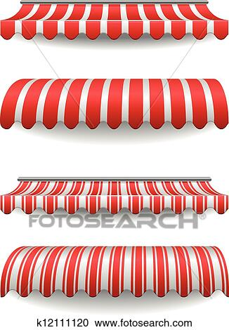 Clipart Of Awnings K12111120 Search Clip Art