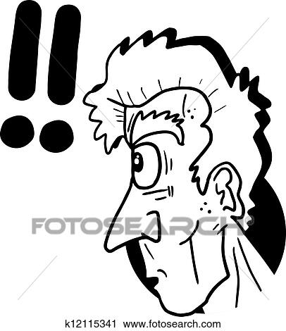 Clipart of Look surprised k12115341 - Search Clip Art ...