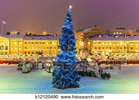 stock fotografie weihnachten in helsinki finnland. Black Bedroom Furniture Sets. Home Design Ideas