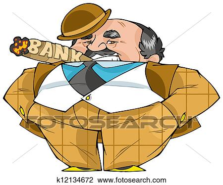 Clip Art of Banker k12134672 - Search Clipart ...