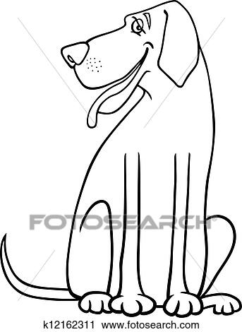 Clipart of great dane dog cartoon for coloring k12162311 search clip
