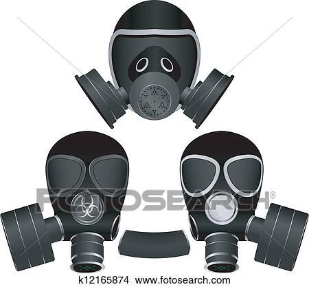 手绘图 - 防毒面具